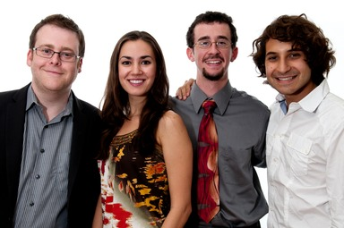 Composer-in-Residence David Ludwig with the 2011 Young Composers